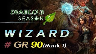 Download [디아블로3 마법사 시즌5] 대균열 90단 (DIABLO3 / Wizard / Season5 / GR 90) - rank 1 Video