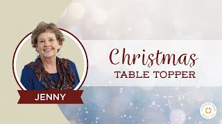 Download The Easiest Christmas Table Topper / Mini Tree Skirt You'll Ever Make! Video
