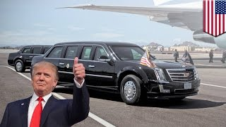 Download President Trump's car: new 'Cadillac One' to be rolled out for the Donald's inauguration - TomoNews Video
