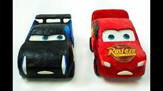 Download Lightning Strikes McQueen vs Storm Race to Finish Line Play-Doh Stop Motion Cars Toys Movies Kids Video