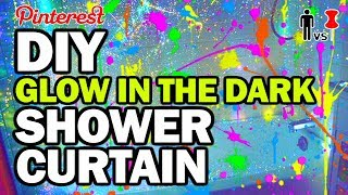 Download DIY Glow in the Dark Shower Curtain - Man Vs Pin Video