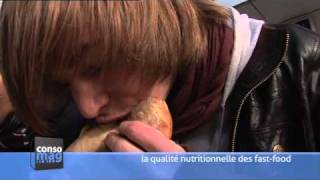 Download Consomag : « la qualité nutritionnelle des fast-food » Video