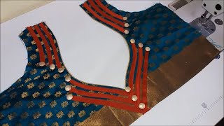 Download Simple and Beautiful Blouse design Stitching with lase and Button - Easy Method Video