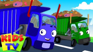 Download Wheels On The Garbage Truck Go Round And Round | Nursery Rhymes | Kids Baby Rhymes | Kids Tv Video