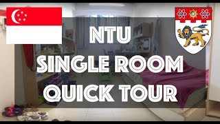 Download NTU Singapore | Crescent Hall | Single Room Tour [BASIC ROOM PROVISIONS] Video