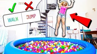 Download 24 Hours in a BALL PiT in my LiViNG ROOM! (you decide) Video