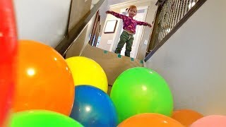 Download BALLOON STAIR SLIDE!! Video