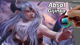 Download Absol Gijinka ( DIGITAL PAINTING) Video