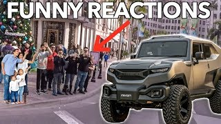 Download DRIVING A TANK THROUGH BEVERLY HILLS *Funny Reactions* Video