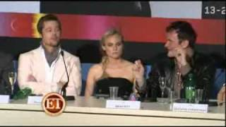 Download Brad Pitt Inglorius Bastards Press Conference in Cannes Film Festival 2009 Video
