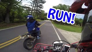 Download Motorcycles CHASED by crazy truck! Video