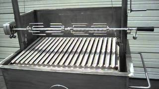 Download Stainless Steel BBQ with Argentine V-grate grill and rotisserie. Video