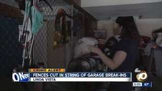 Download Fences cut in string of garage break-ins Video