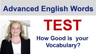 Download TEST - Advanced English Words|Accurate English Video