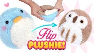 Download DIY VIRAL REVERSIBLE PLUSHIE!!! Owl & Penguin Sock Plush - Cute Budget Xmas Gift Ideas Video