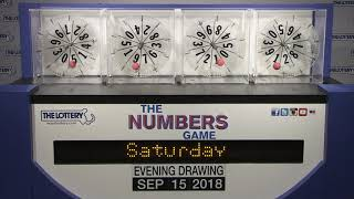 Download Evening Numbers Game Drawing: Saturday, September 15, 2018 Video