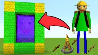 Download How To Make a Portal to the Baldi's Basics Field Trip Dimension in MCPE (Minecraft PE) Video