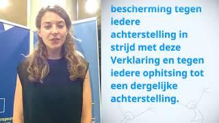 Download Tamieck Van Vuuren, Netherlands, reading article 7 of the Universal Declaration of Human Rights Video