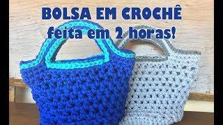 Download BOLSA/SACOLA EM CROCHÊ!! Fácil e rápida Video