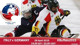 Download Italy v Germany | Prelim | 2015 IPC Ice Sledge Hockey World Championships A-Pool, Buffalo Video
