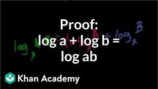 Download Proof: log a + log b = log ab   Logarithms   Algebra II   Khan Academy Video