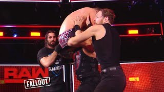 Download The Shield drives The Miz through the announce table after Raw: Raw Fallout, Nov. 20, 2017 Video