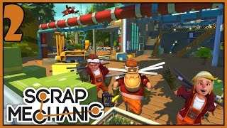 Download Garage Doors & Toilet Assistant - Scrap Mechanic Gameplay - Part 2 [Let's Play Scrap Mechanic] Video