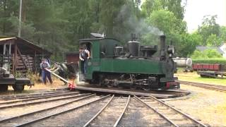 Download Ohsabanan museum railroad 15 km through the forest, Sweden 2013 Video