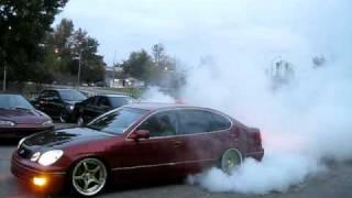 Download 600hp 2JZGTE Lexus GS300 BURNOUT & Tire Destruction! [HQ] Video