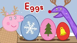 Download Peppa Pig Surprise 🎄Peppa's Christmas Surprise Eggs with Dinosaur 🎄 Learning with Peppa Pig Video