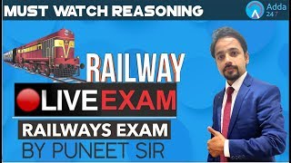 Download RRB ALP/GROUP D/RPF | Railway Live Exam | Must Watch | Reasoning | Video