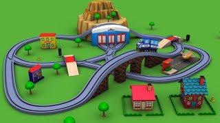 Download Trains for children - Chu Chu Train - Police Cartoon - train - toy factory - Cartoon for kids Video