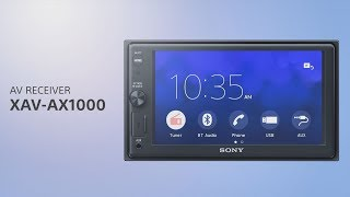 Download Sony XAV-AX1000 Apple CarPlay Media Receiver with BLUETOOTH® Video