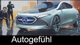 Download Mercedes A-Class electric? EQA Compact EV Concept vs EQC REVIEW IAA 2017 - Autogefühl Video