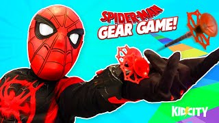 Download Spider-Man Gear Game! Web Shooters + Spider-Verse Costume Mashup! | KIDCITY Family Games Video