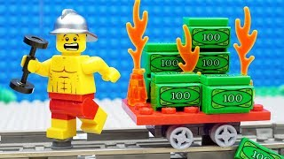 Download Lego Train Gym Money Fail - Firefighter Video