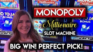 Download PERFECT TIMING! Picked the 10X For a BIG WIN! Monopoly Millionaire Slot Machine! Video