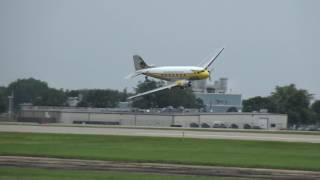 Download Insanely Low DC-3 Passes (and One-Wheeled Landing) at EAA Airventure 2017! Video
