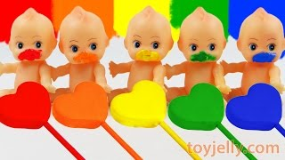 Download Learn Colors Play Doh Clay Heart Popsicle Ice Cream Paint Baby Doll Finger Family Song Nursery Rhyme Video