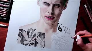 Download Speed Drawing: The Joker - Jared Leto in Suicide Squad | Jasmina Susak Video