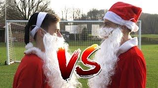 Download Christmas Football Challenge | Santa v Bad Santa 🎅🎅 Video