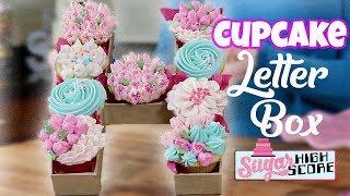 Download Cupcake Letter Box - Cupcake Monogram - Buttercream Flower Cupcakes Video