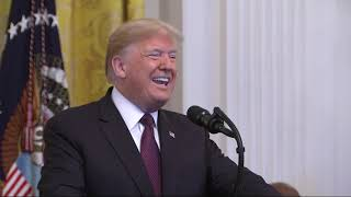 Download Trump awards 'extraordinary Americans' with honors Video