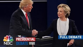 Download The Second Presidential Debate: Hillary Clinton And Donald Trump (Full Debate) | NBC News Video