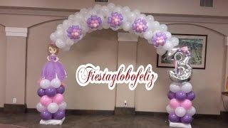 Download Como hacer un arco de la princesa sofia con globos Video