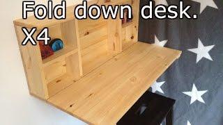 Download Wooden fold down desk Video