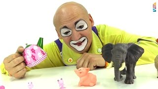 Download Clown grows animal toys. Fun kids' videos. Video