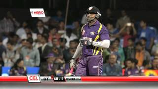 Download CCL 4 Bengal Tigers Vs Karnataka Bulldozers Exciting 10 To 15 Overs Video