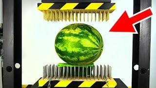 Download WATERMELON BETWEEN NAIL BEDS (HYDRAULIC PRESS EXPERIMENT) Video