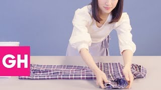 Download Here's Exactly How to Fold Dress Shirts the Marie Kondo Way | GH Video
